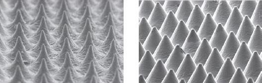 Die Standverfahren mit LAMS-Schicht (links) und Flexcel NX (rechts) im Vergleich, Buchdruck, Druckplatten, Druckplattenherstellung, Flexodruck, Tiefdruck