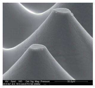 Rasterpunkte, erzeugt mit dem Verfahren von DigiFlex, Buchdruck, Druckplatten, Druckplattenherstellung, Flexodruck, Tiefdruck