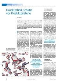 Drucktechnik schützt Etiketten vor Produktpiraterie