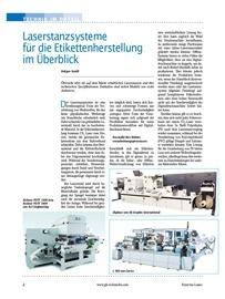 Lasterstanzen, CO2-Laser, Digitaldruck, Etiketten, Weiterverarbeitung