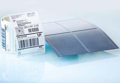 Beschichtung zum Schutz vor Verschleiß bei abrasiven Materialien, Etiketten, Haftmaterial, Stanzblech, Trägermaterial
