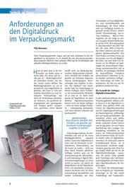 Anforderungen an den Digitaldruck im Verpackungsmarkt
