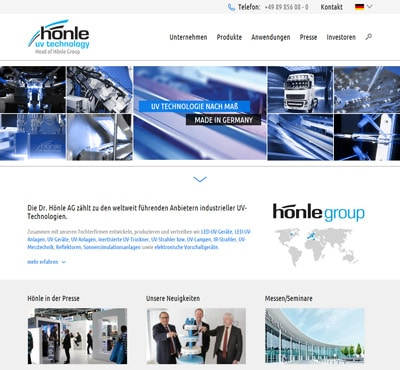 Dr. Hönle neue Website