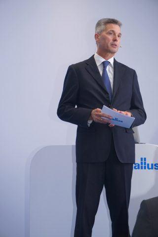 Klaus Bachstein, CEO der Gallus Gruppe, eröffnete die Innovation Days 2016 mit Anmerkungen zur strategische Ausrichtung und aktuellen Situation der Gallus Gruppe