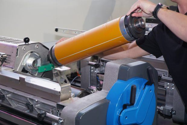 Die speziell für die Labelmaster entwickelten Aluminium-Leichtbau-Druckzylinder tragen spürbar zur Reduzierung der Rüstzeiten bei
