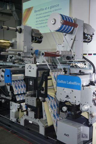 Die Converting-Einheit der Labelfire 340