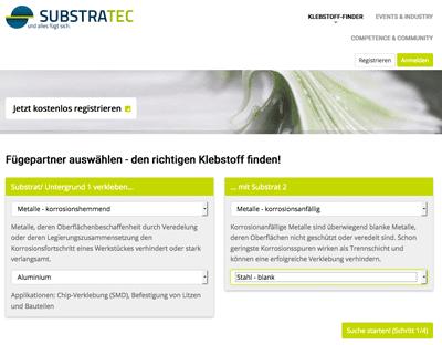 Screenshot Substratec