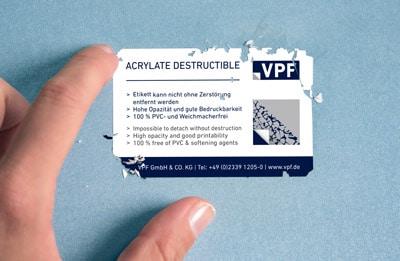VPF Sicherheitsetiketten