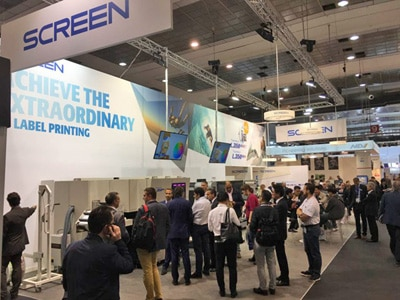 Labelexpo Screen Messestand