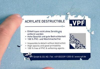 VPF Sicherheitsfolien