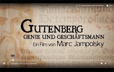 Screenshot Video Gutenberg Arte
