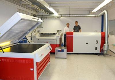 Blick in die Flexoplattenproduktion mit den Cyrel-Fast-Systemen