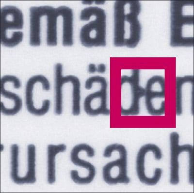 Fehler im Druckbild - Fleck