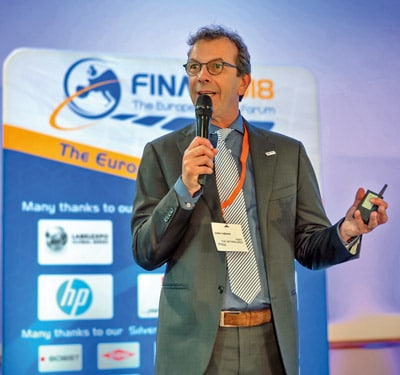 Jules Lejeune, FINAT-Präsident, bei der Präsentation der aktuellen Marktdaten (Quelle: FINAT)