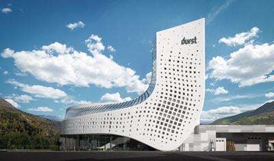 Die futuristische Zentrale von Durst in Brixen