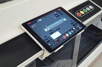Über das mobile Tablet sind alle Funktionen steuerbar