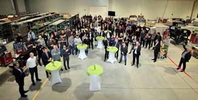 Blick in die Esko-Produktion während der Eröffnung am 9. November 2018