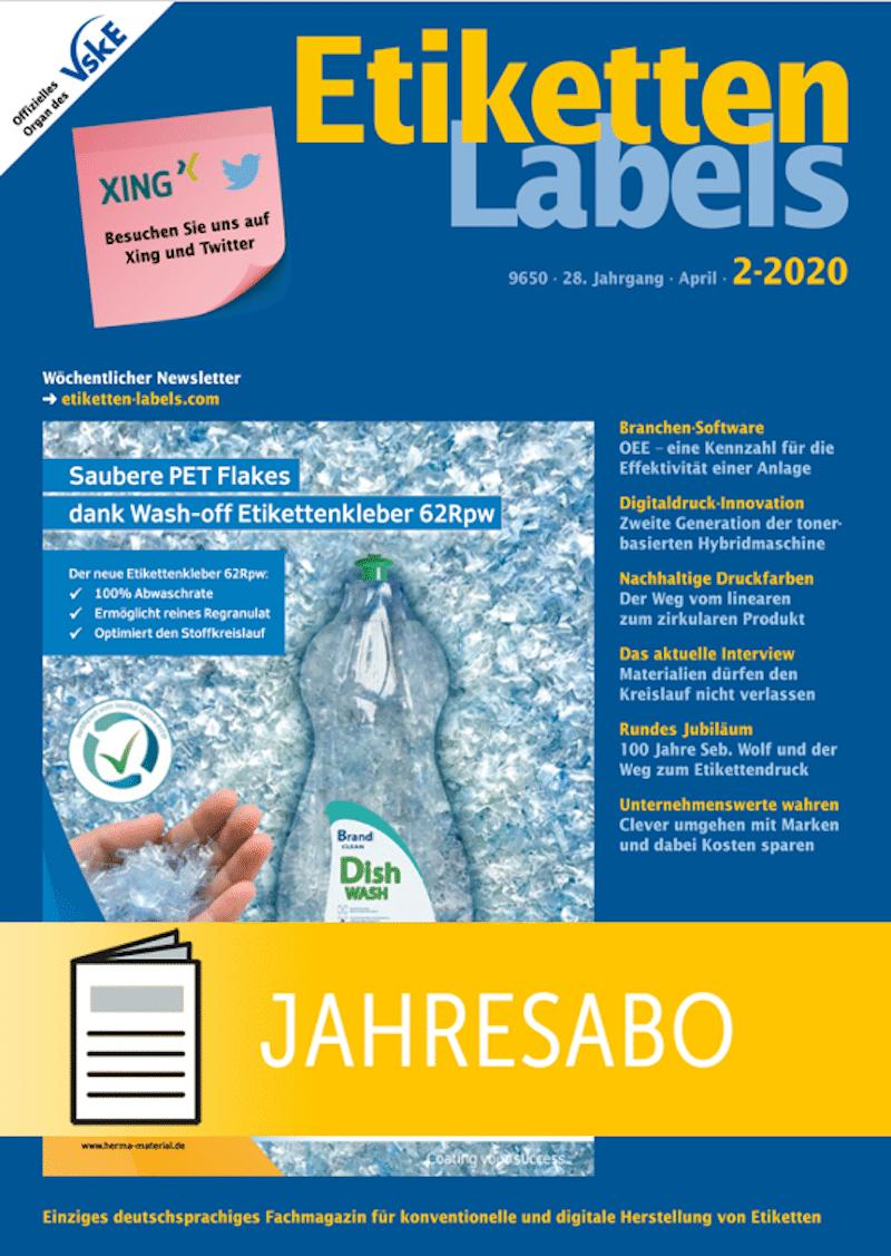 Produkt: Etiketten-Labels Jahresabonnement Print