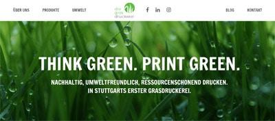 Screenshot Die Grasdruckerei