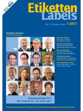 Titelseite Etiketten Labels Ausgabe 1/2017