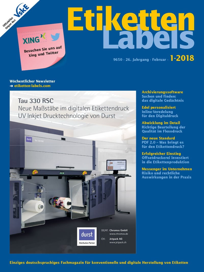 Produkt: Etiketten-Labels Digital 1/2018