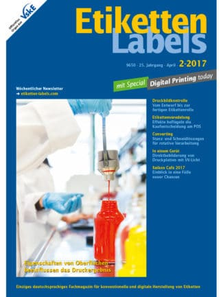Titelseite Etiketten Labels Ausgabe 2/2017