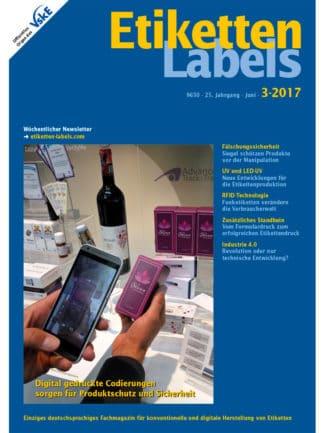 Titelseite Etiketten Labels Ausgabe 3/2017