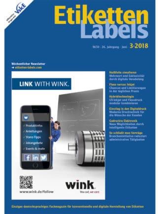 Titelseite Etiketten Labels Ausgabe 3/2018