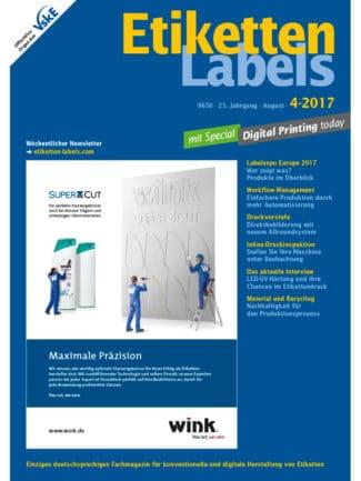 Titelseite Etiketten Labels Ausgabe 4/2017