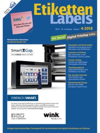 Titelseite Etiketten Labels Ausgabe 4/2018