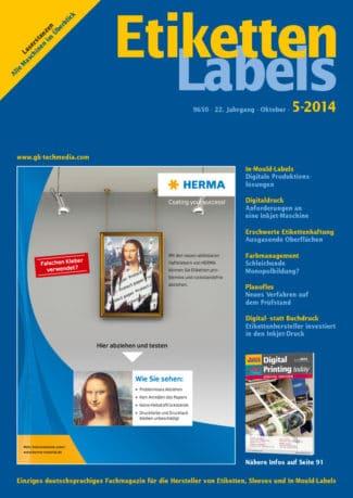 Titelseite Etiketten Labels Ausgabe 5/2014