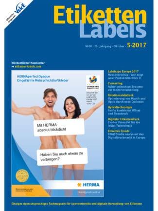 Titelseite Etiketten Labels Ausgabe 5/2017