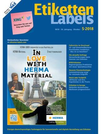 Titelseite Etiketten Labels Ausgabe 5/2018