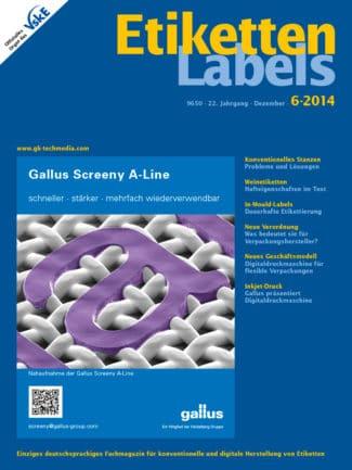 Titelseite Etiketten Labels Ausgabe 6/2014