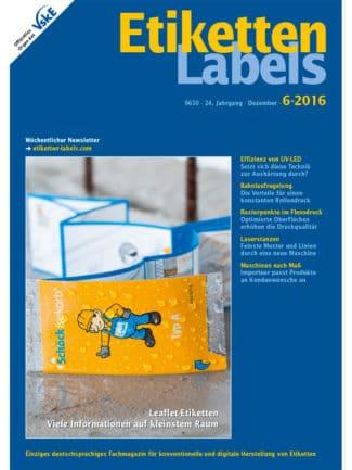 Titelseite Etiketten Labels Ausgabe 6/2016