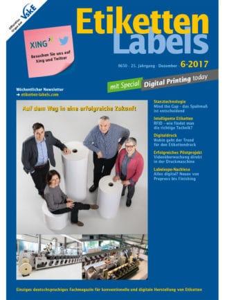 Titelseite Etiketten Labels Ausgabe 6/2017