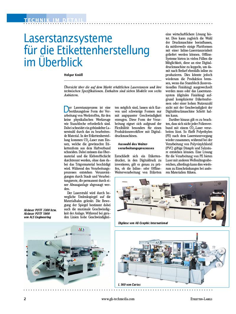 Produkt: Download »Marktübersicht Laserstanzsysteme«