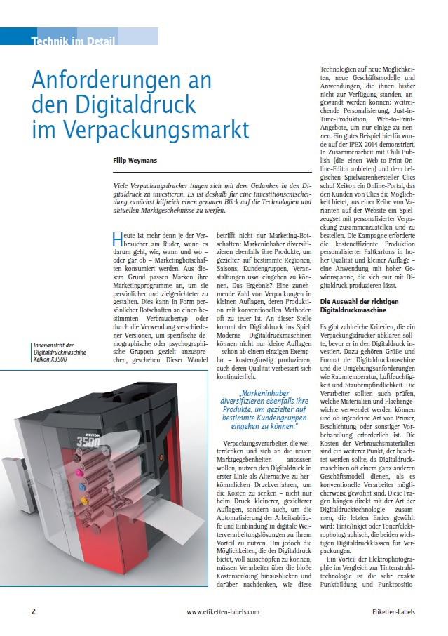 Produkt: Download »Anforderungen an den Digitaldruck im Verpackungsmarkt«