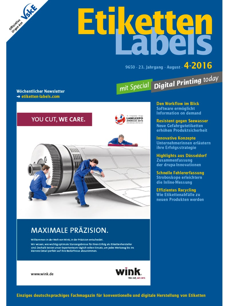 Produkt: Etiketten-Labels Digital 4/2016