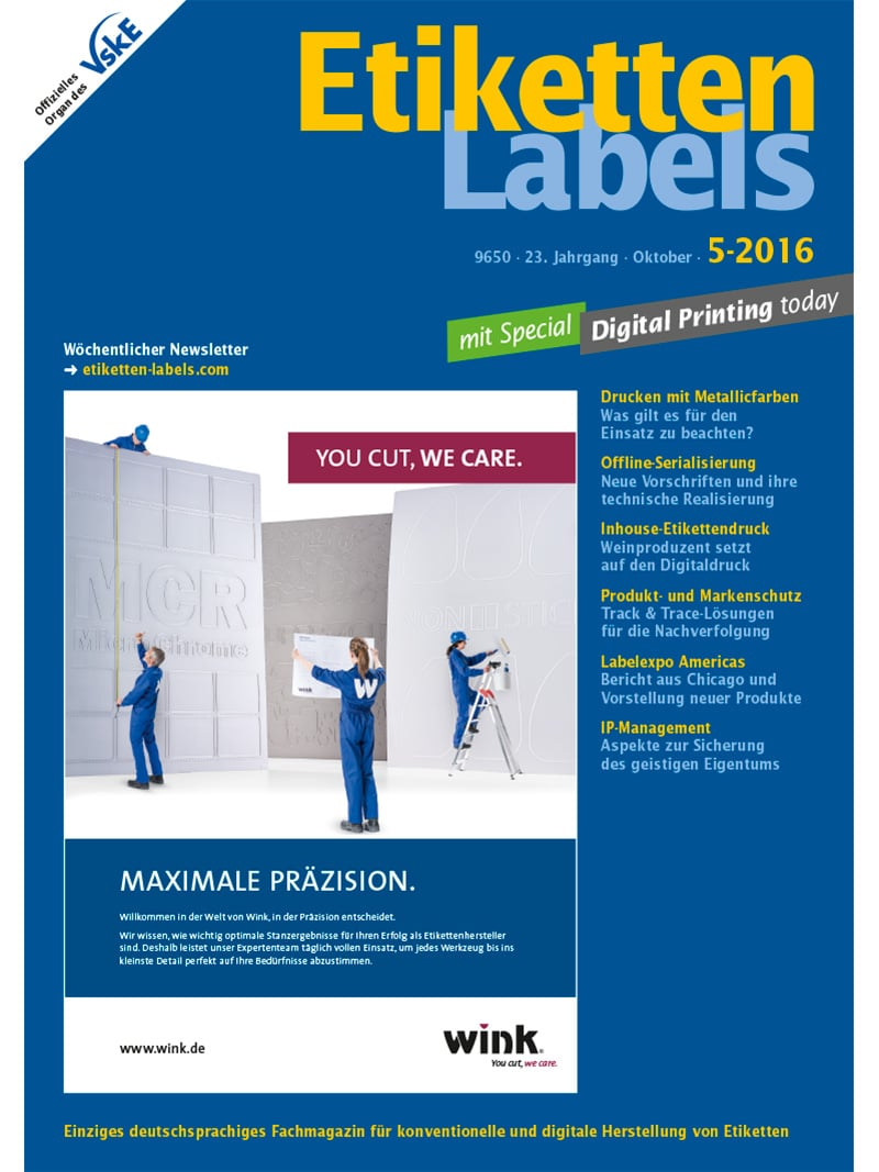 Produkt: Etiketten-Labels Digital 5/2016
