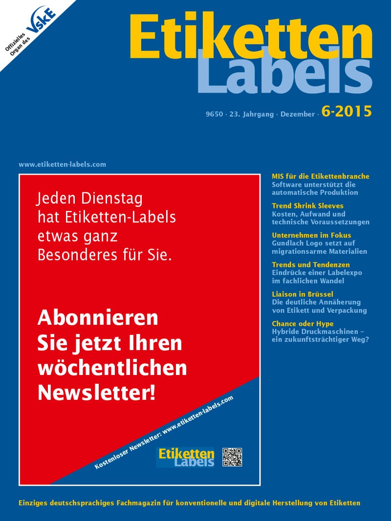 Produkt: Etiketten-Labels Digital 6/2015