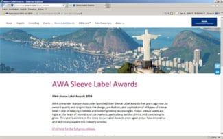 AWA Website Anmeldung Award