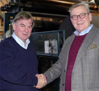 V.l.: Zanders-Managing Director Terje Haglund und Head of Management Andreas Willeke