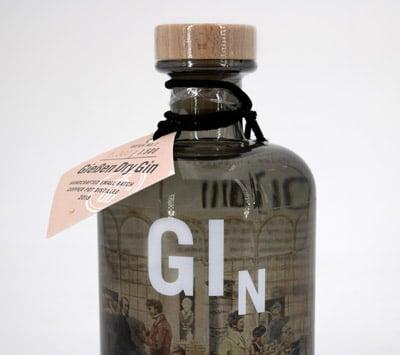 Print-ID Gin-Etikett im Digitaldruck