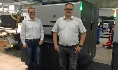 Die Print-ID-Geschäftsführer Johannes Heß (l.) und Sven Rühl