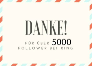 Logo Danke 5000 Follower Xing
