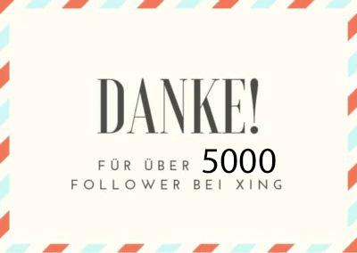 Logo Danke 5000 Follower Xing