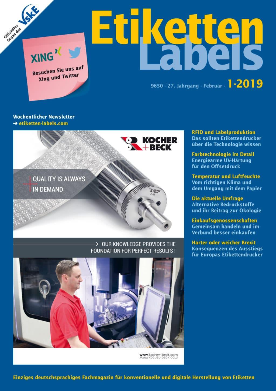Produkt: Etiketten-Labels 1/2019 Digital