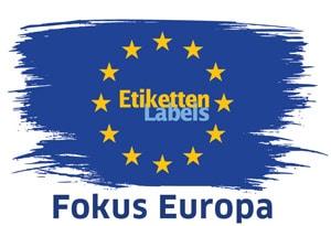 Europ-Logo Etiketten-Labels