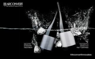 Arconvert Etiketten im Eiskübel
